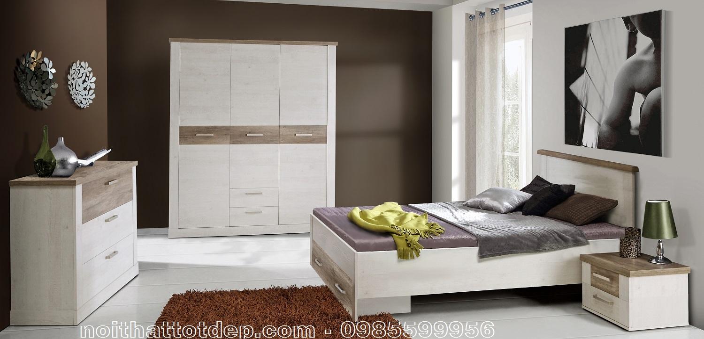 mẫu phòng ngủ màu trắng